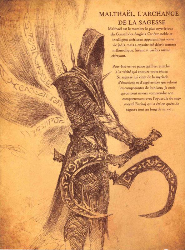 Image de Malthaël, le méchant de Diablo 3 : Reaper of souls, décrit par Cain dans le livre de Cain
