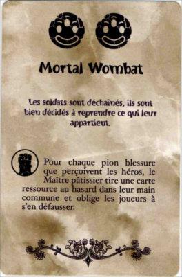 Carte Mortal Wombat du jeu de société Chocafrix'