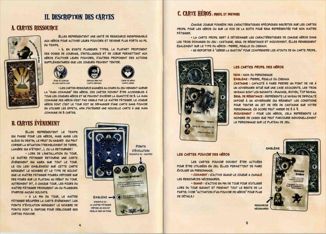 Page 4 et 5 du livret de règles du jeu de société Chocafrix'