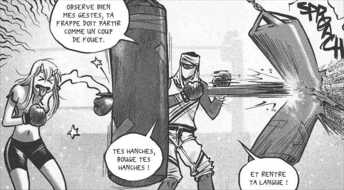 Sablon entraîne Chance avant le combat contre Saint-Ange