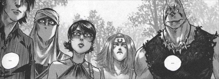 Sablon, Valkyrie, Xiong Mao, Ombre apprennent de Funérailles que Chance doit gagner le contre Saint Ange sinon elle va mourir