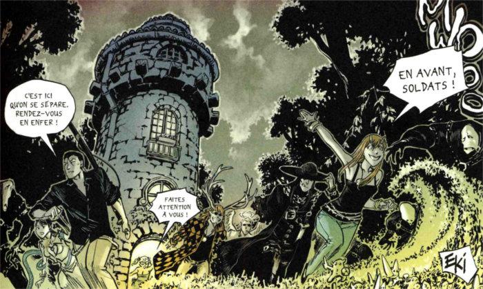Fuite de la tour de Xiong Mao, Chance et Ombre de Loup afin de sauver le monde du milieu