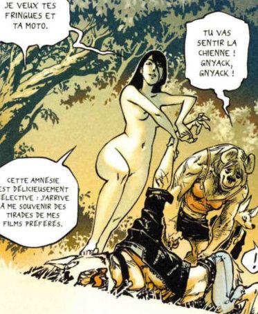 Référence à Terminator 2 : Xiong Mao demande les vêtements et la moto de son ennemi