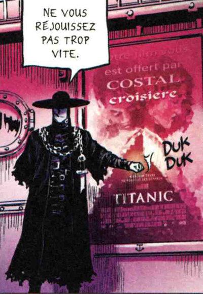 Référence au film Titanic dans l'enfer de Gunther avec l'affiche du film de James Cameron