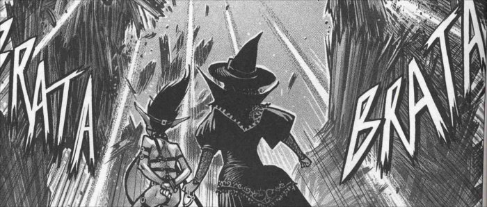 Changelin et Amanite attaqués par Saint-Ange lors du tome 3