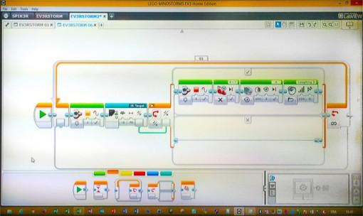 Lego Mindstroms : l'interface de programmation est simple d'accès et clair