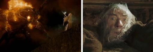 Gandalf affronte le Balrog