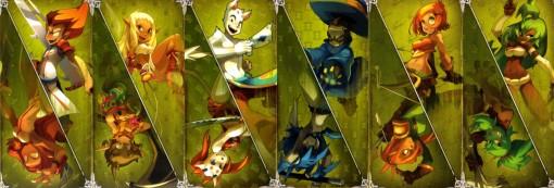 Cartes de caractéristiques de tome 1 de Dofus : Les vents d'Emeraudes