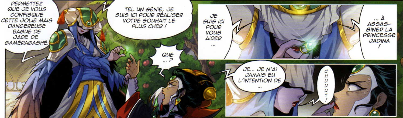 Kalandre propose alors à Invidia de l'aider à accéder au trône en tuant Jadina