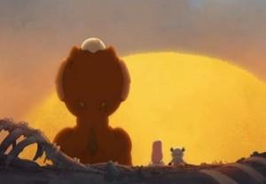 Lou et Kerubim profitent du coucher de Soleil