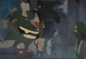 Le chef shushu transforme les humains en embrumé