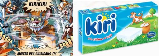 Légendaires : Le personnage de Kirikiri tire son nom du fromage pour enfant Kiri.