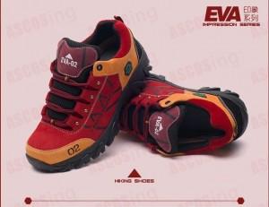 Chaussure de randonnées Evangelion 02 rouge et orange