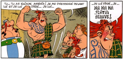 Stayin' Alive version Asterix chez les pictes