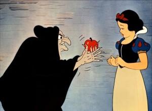 Blanche neige et la pomme de la sorcière