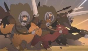 douze chevaliers en quête de l'Épée Neuf Queues