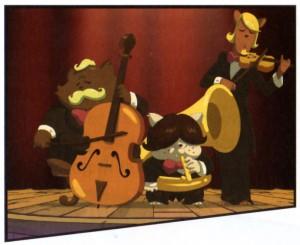 Les musiciens continuent à jouer pendant le naufrage