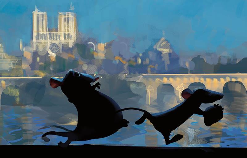 """Image du film Ratatouille tirée de l'exposition """"Pixar, 25 ans d'animation"""""""