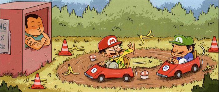 Le Joueur du Grenier joue à Mario kart en vrai