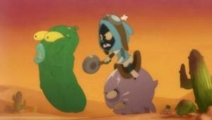 Joris affronte un concombre