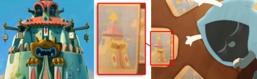 Sur le dos des cartes du jeu de Joris, on peut voir le temple du Dieu Ecaflip.