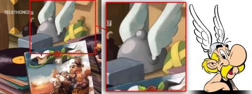 on peut voir le casque d'Astérix parmi les objets à vendre