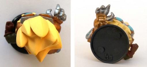 Vue de dessus et dessous de la figurine Merkator - Krosmaster (Dofus)