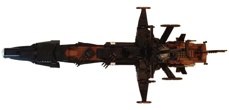 Vue de dessus de l'Acradia - Atlantis (Lego Albator)
