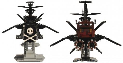 Face et dos de l'Acradia - Atlantis (Lego Albator)