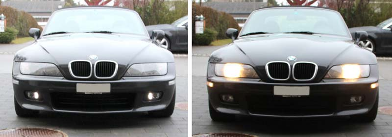 2 FEUX DIURNE DRL CALANDRE BMW Z3 E84 Z4 SERIE 1 3 5