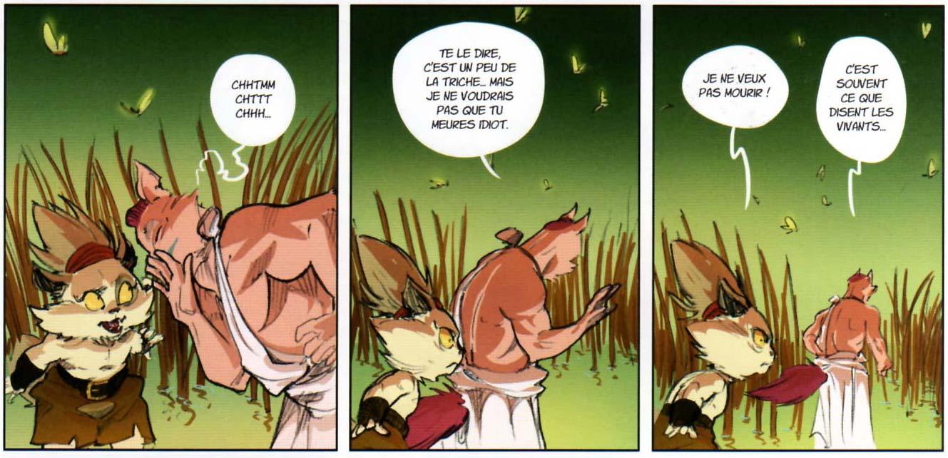 Le dieu Ecaflip révèle un secret à Kerubim