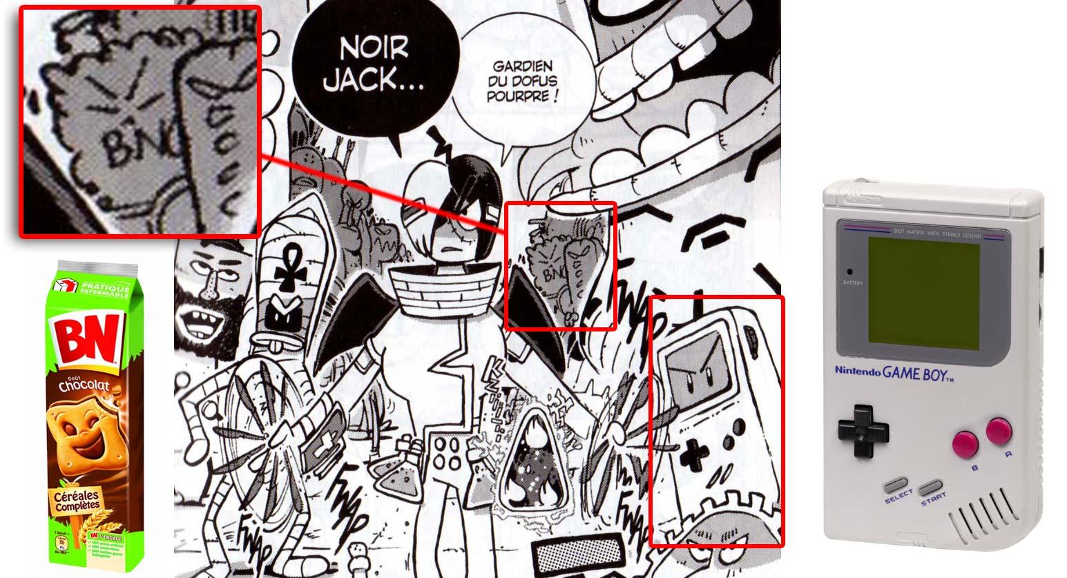 On peut voir un BN et une Game Boy