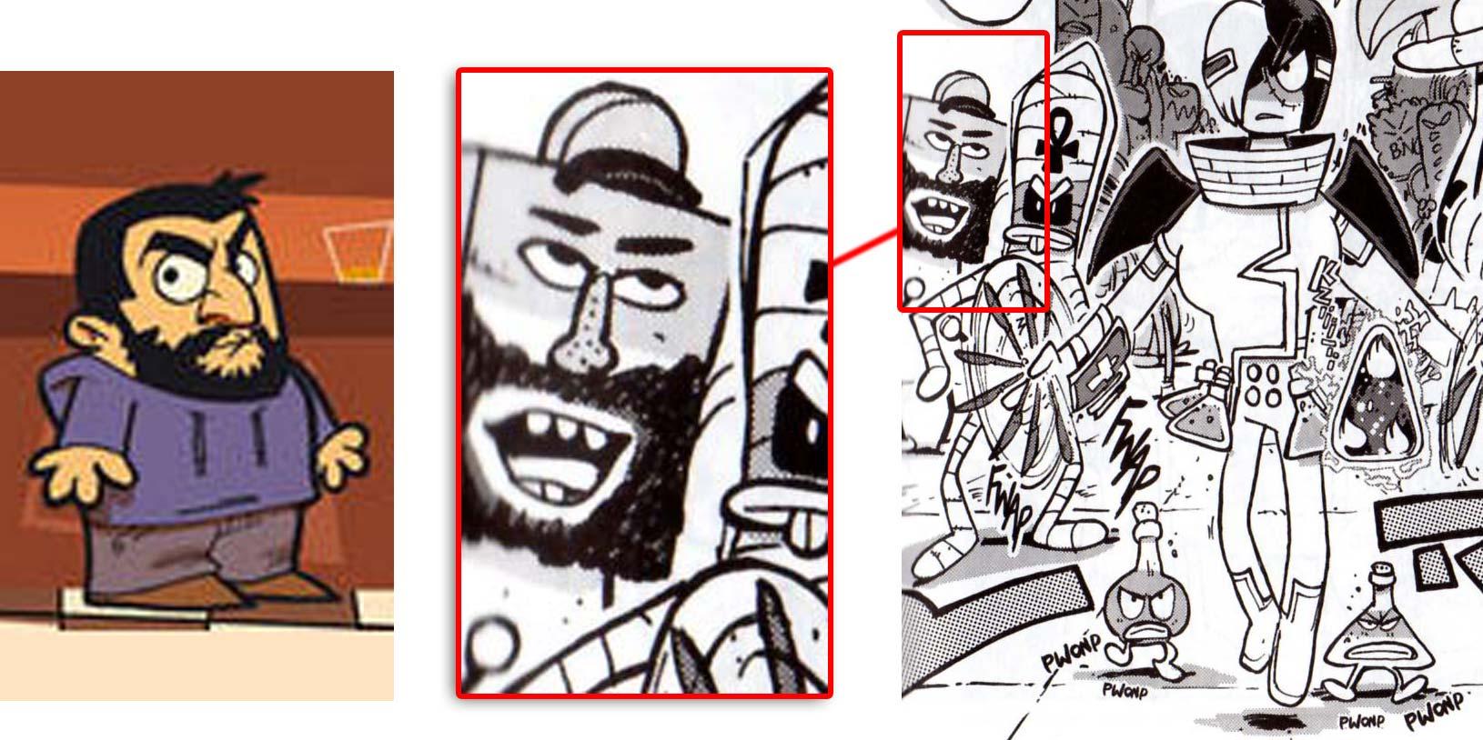Le personnage à la tête carrée est un clin d'œil à MIG
