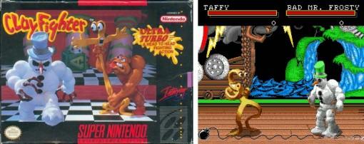 cartouche de la console Super Nes du jeu ClayFighter