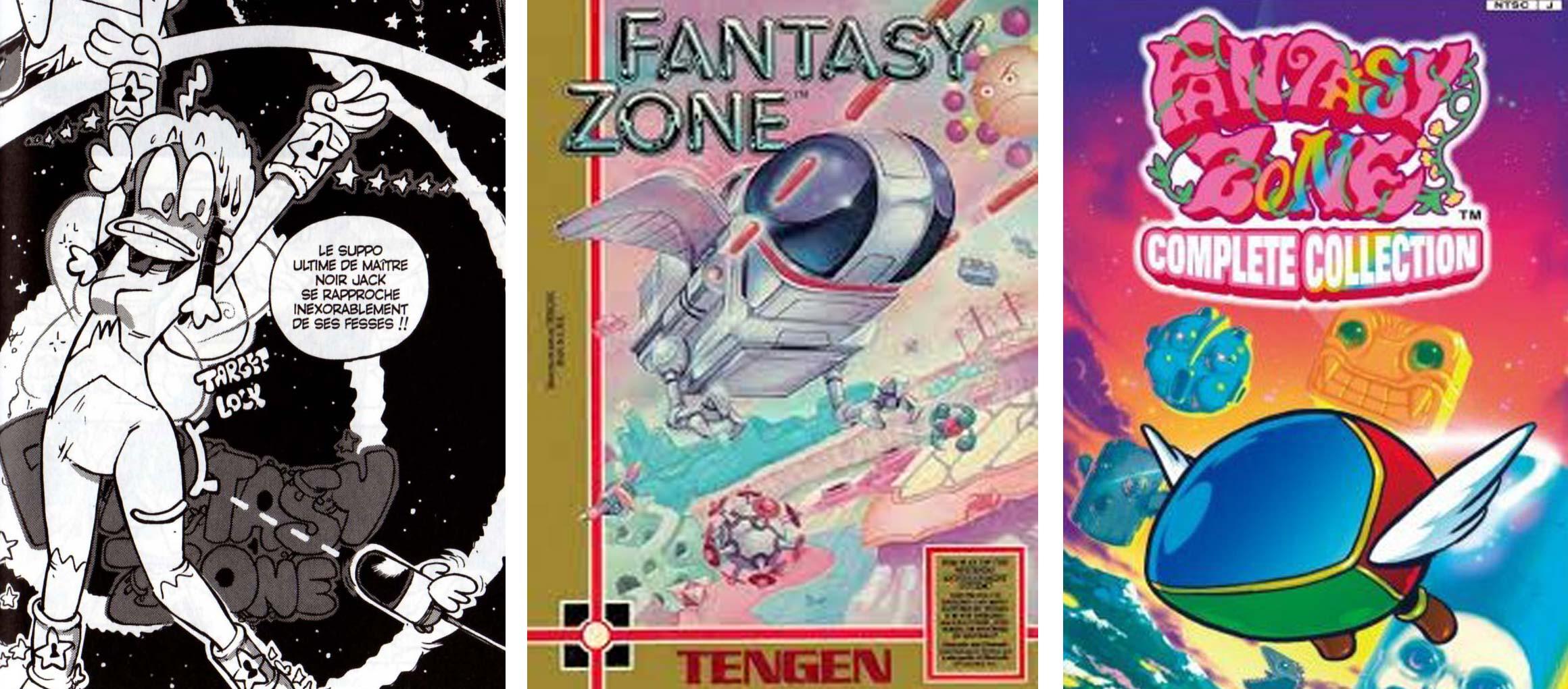 le design du suppositoire font référence a Fantazy Zone
