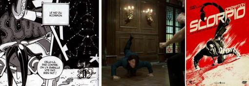 Le gardien du scorpion fait référence au héros du film Opération Scorpio.