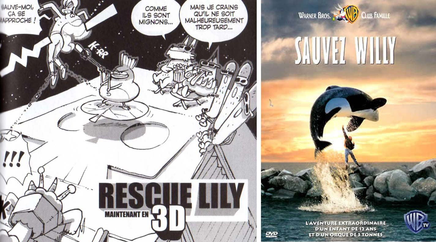 Le titre Rescue Lily est une allusion au film Sauvez Willy