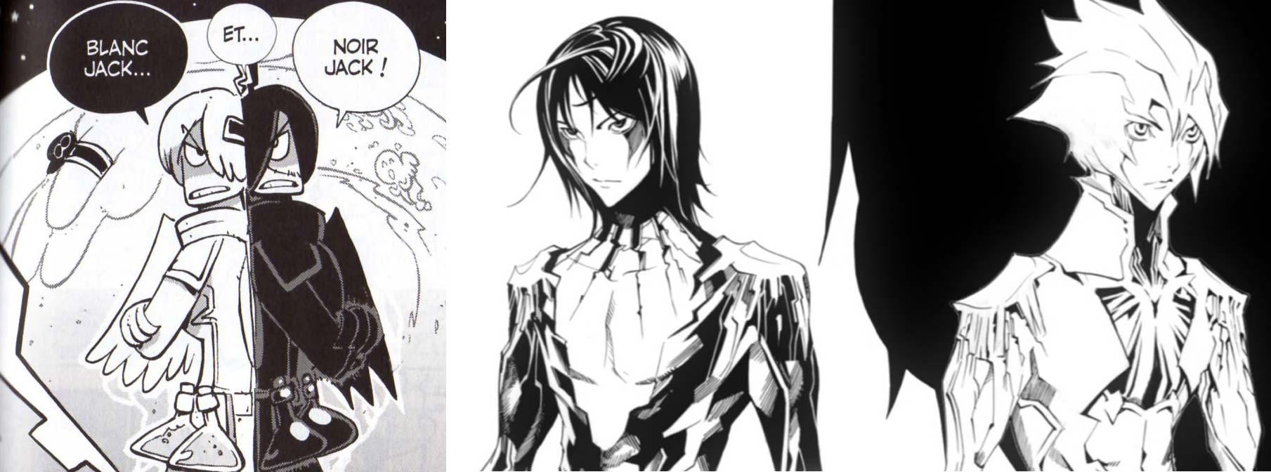 La version blanche de Noir Jack évoquent fortement les deux démons jumeaux Reversi