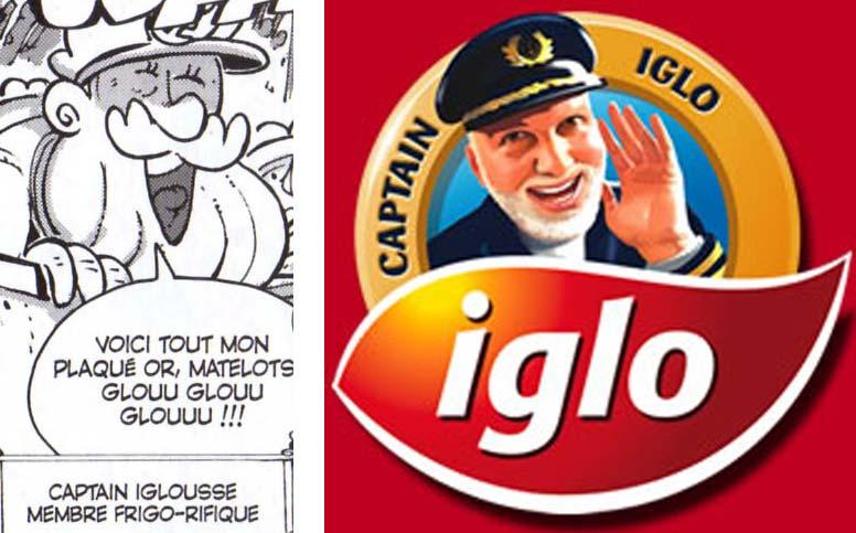 Un des membres du jury est une allusion au personnage de Captain Iglo