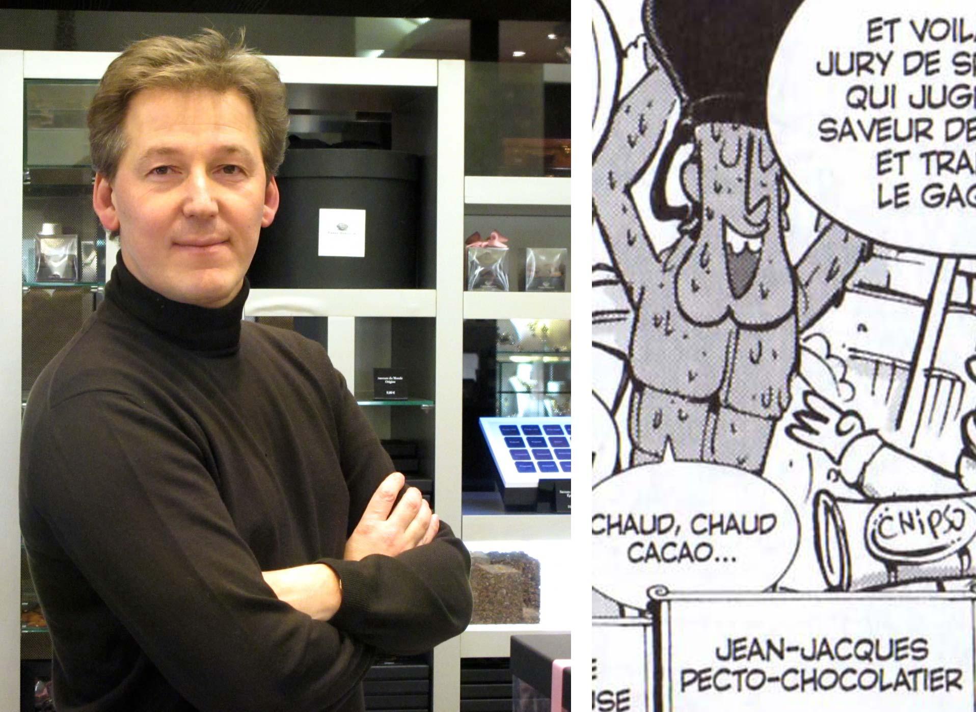 Jean-Jacques Pecto-Chocolatier est d'après Ancestral Z un clin d'œil au chocolatier belge Pierre Marcolini