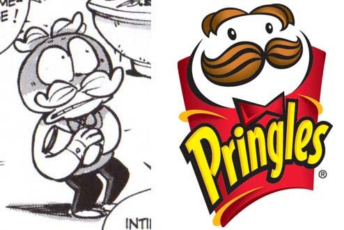 mascotte des chips Pringles