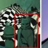 La figurine en bois représente Batman.