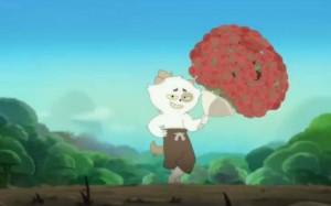 Kerubim charme Lou avec un bouquet