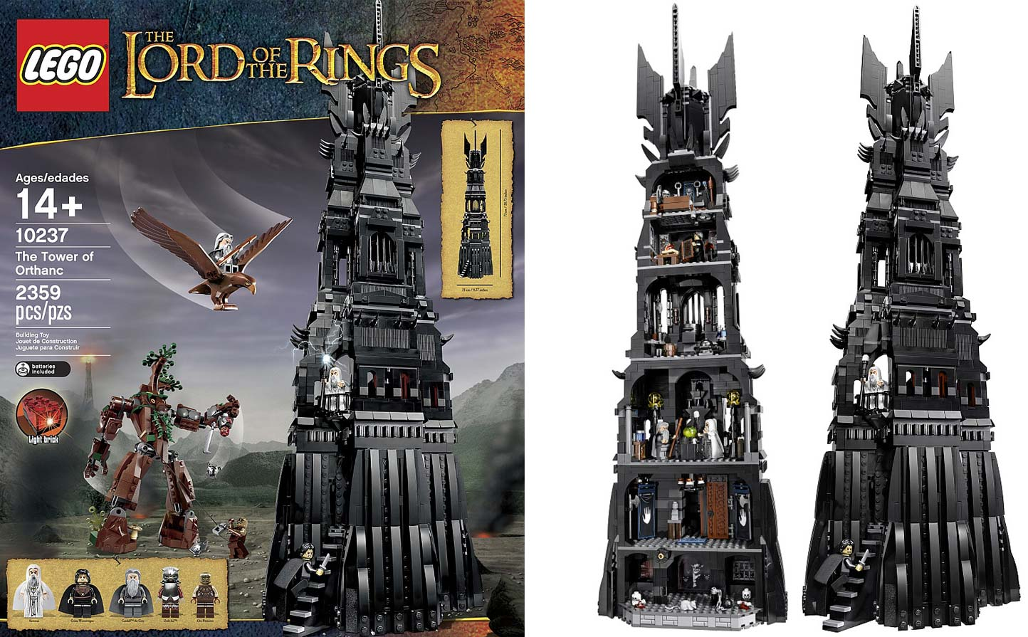 Lego set 10237 The lord of the ring / La tour d'Orthanc