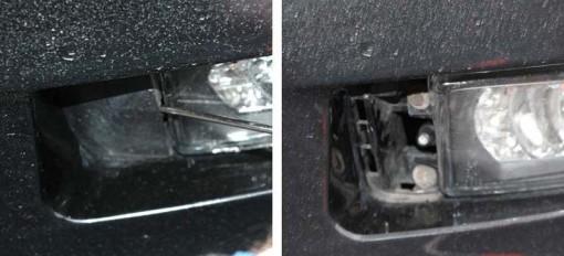 Démontage antibrouillards BMW Z3