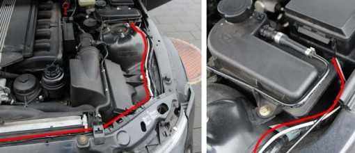 Tracé du câble LED diurne (BMW Z3)