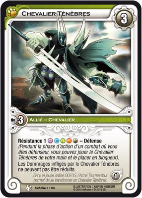 Chevalier Ténèbres - Carte Wakfu TCG