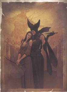 Adria et Maghda dans le livre de Tyraël (Diablo)