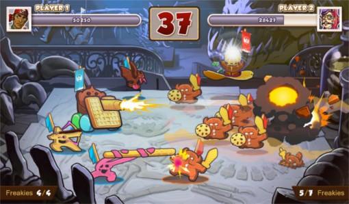 Capture d'écran du jeu vidéo Call of cookie (tiré de l'univers de Freaks' Squeele)