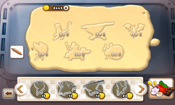 Exemple d'écran de cuisine de Call of Cookie (Freaks' Squeele)